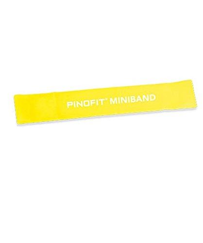 PINOFIT Miniband 44650 gelb breit 33 x 5 cm incl. Gratis Bienenwachs-lederbalsam 50ml