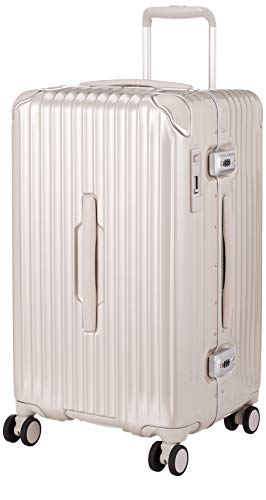 [カーゴ] スーツケース グッドサイズ スリムフレーム 多機能モデル CAT68SSR 保証付 60L 65 cm 5.1kg サテンゴールド