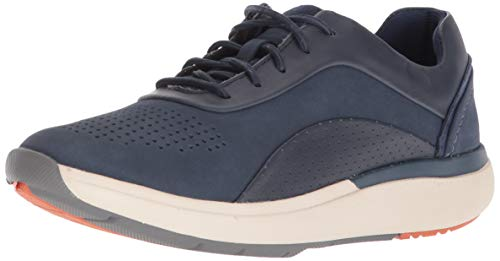Clarks Women's Un Cruise Lace Sneaker, Navy Nubuck/Leather Combi, 80 M US