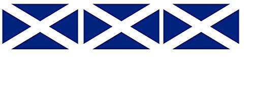 Etaia - 3X Mini Premium Aufkleber - 2,5x4 cm - Fahne/Flagge von Schottland Scotland kleine Europa Länder Sticker fürs Auto Motorrad Fahrrad Handy Bike