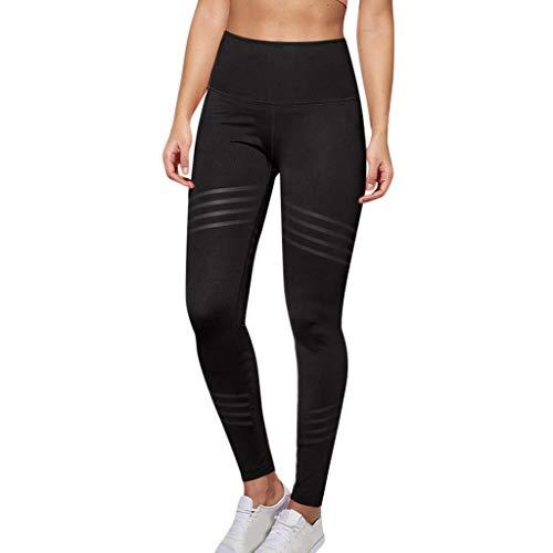 Leggings élastiques, GreatestPAK Femmes Casual Couleur Unie Twill Hanche Exercice Fitness en Cours d'exécution Taille Haute Legging Yoga Pantalon Slim