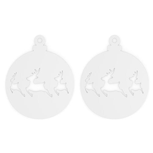 Koziol – Adorno de Navidad, Ciervo, Color Blanco, 0,3 x 10