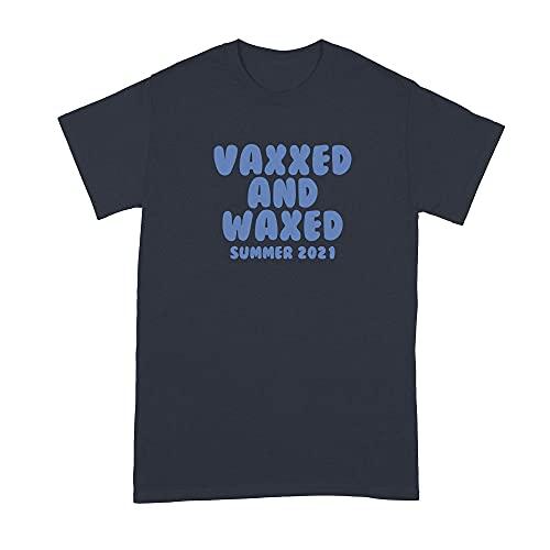 LibbysDesignsStore Vaxxed and Waxed Tshirt Funny Vaccine Shirts