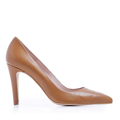 Castellanisimos Zapatos Salones Stiletto Mujer Marron Zapato Ballet Señora