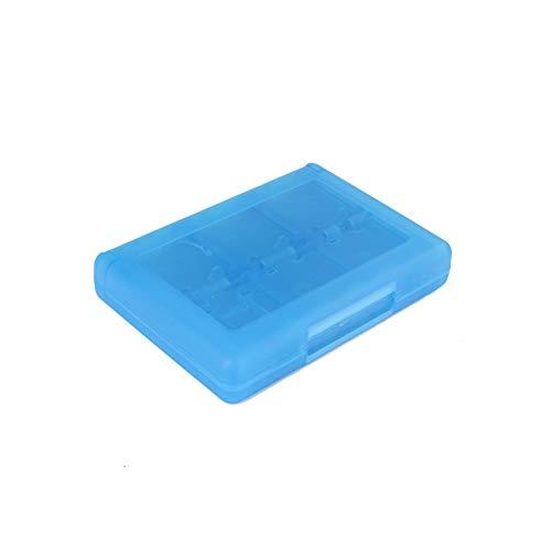Hieefi 28 En 1 Caja De Tarjeta De Juego Titular 3ds Caja De Almacenamiento Caja De Cartuchos Tarjeta De Juego para Nintendo 3ds Organizador Vedio Juegos (Azul)