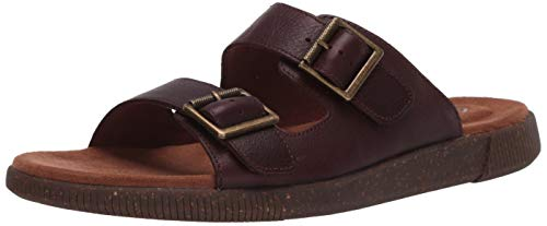 Clarks Men's Vine Cedar Sandal, Mahogany Leather, 95 M US