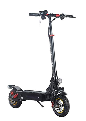 Electric Scooter, Commuting Electric Scooter, Hub Motor 500 Watt Motor One-Step Folding Up To 55 Km/h For Kids/Adult (Black)
