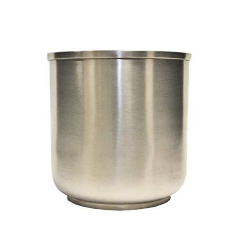 Varia Living Runder Übertopf aus Metall Silber Blumentopf zylindrisch | Pflanzgefäß im modernen grauen Design in Edelstahloptik matt glänzend | Kräutertopf oder Pflanztopf (Ø 16 cm/H 17 cm)