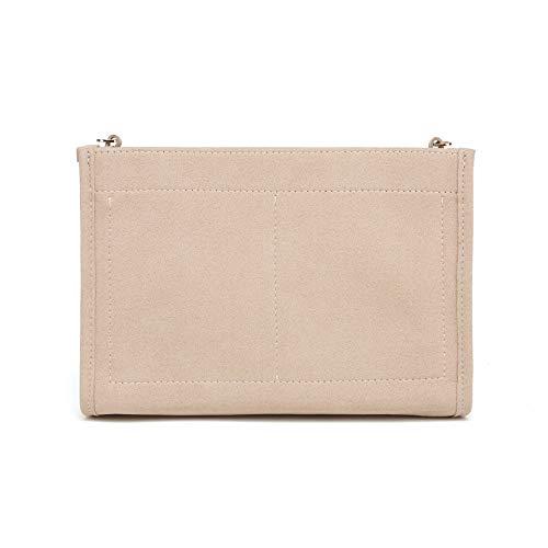 Filz-Einsatz-Organizer-Tasche in Tasche, kompatibel mit Geldbörse LV Kulturbeutel 26 19 (LV Pouch 26 Khaki)