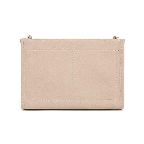 Felt Insert Organizer Bag In Bag compatible with Purse LV Toiletry Pouch 26 19 (LV Pouch 26 Khaki)