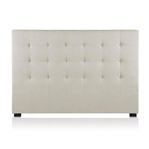 INTENSEDECO Tête de lit capitonnée Premium Tissu 160cm Beige