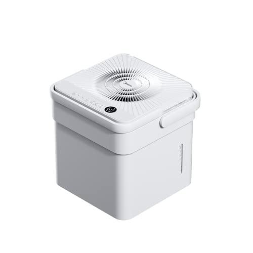 Midea Cube 20, Deshumidificador 20L/día , WiFi, APP control , Drenaje Continuo, Secadora de Ropa, Modo inteligente y temporizador 24h, depósito expandible de 12L, Cobertura 40 m² / 100 m³, R290