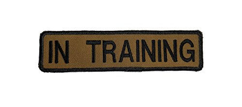 Coyote Brown in Training Hook and Loop Fastener Set of 2 ID Patches 1.5' X 6' Redline K9