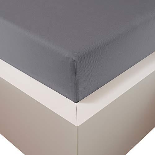 Traumschloss Edel-Jersey Spannbetttuch Premium Plus | Grau | Mako Baumwolle mit Lyocell & Elasthan | Bettlaken wärmt im Winter & kühlt im Sommer | hautsympatisch | 90-120 cm x 200-220 cm