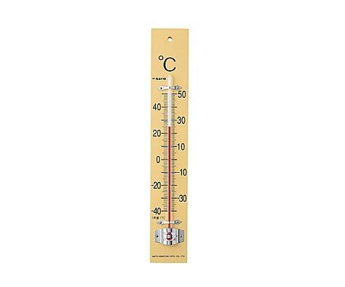 佐藤計量器製作所 板付温度計 フック箱 -40~50℃ 61-0065-45