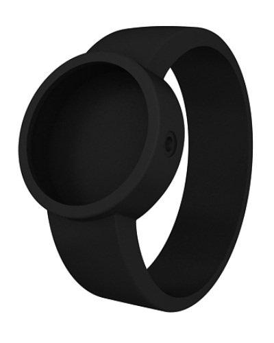 O clock COVERL_NS - Reloj Unisex con Correa de Silicona, Color Negro