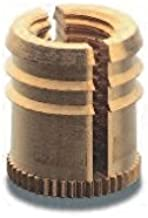 Kerb-Konus 20 pcs Brass Inserts in Plastic | Cold Press NC 1/4 - 20, Length 0.5