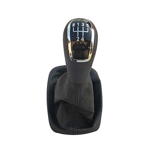 Perilla de cambio de engranaje de estilo de coche de 5 velocidades y 6 engranajes para Skoda Fit para Fabia MK II MK2 2000 2001 2002 2003 2004 2005 2006 2007 2008-5 velocidad