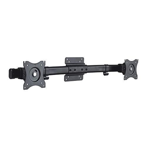 """conecto CC50514 Adaptador de Pantalla Dual para 2 monitores 33-69cm (13-27""""), inclinable: -45°/45°, Giratorio: -15°/15°, Giratorio: -180°/180°, máximo 10kg, VESA 100x100, Negro"""