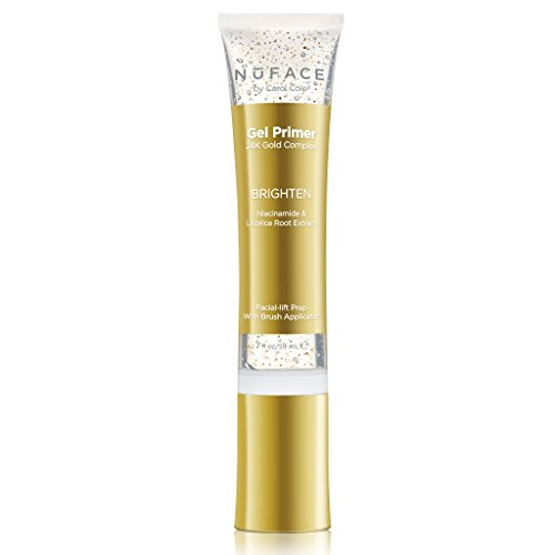 NuFACE 24K Gold Brighten Gel Primer | For Use with NuFACE Devices | Fragrance-Free | Lightweight Application | Excellent for Diminishing Dark Spots | 2 Fl Oz