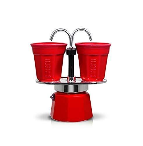 Bialetti 0006190 Set Mini Express 2 Tasses + 2 Bicchierini Rouge Aluminium 22 x 8 x 21,5 cm