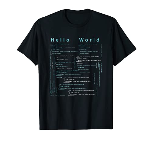T-Shirt Informatiker, Coder 'Hello world' Geschenk