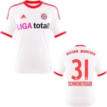 FC Bayern Schweinsteiger Trikot Away 2013, XXL