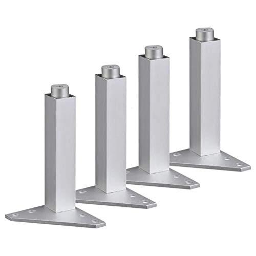 4pcs 150 mm de Plata Ajustable aleación de Aluminio triángulo Base Muebles Patas gabinete sofá pies pies