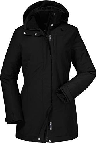 Schöffel Insulated Jacket Portillo, wind- und wasserdichte Winterjacke für Frauen, warme und atmungsaktive Outdoor Jacke Damen, black, 40