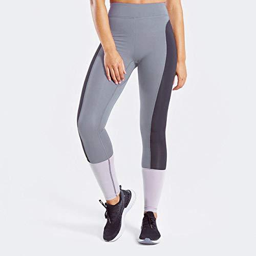GUOYANGPAI Leggings sin Costuras vitales, LeggingsDeportivos de Color Rosa con Retazos de Moda para niña, Leggings sin Costuras para Gimnasio, Pantalones Ftiness,Gris,M