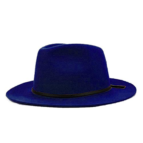 CHENGWJ Fedoras Cap Hommes Chapeau De Soleil Trilby Sombrero Trilby Sombrero Trilby Sombrero avec Bande De Cuir Haut Forme