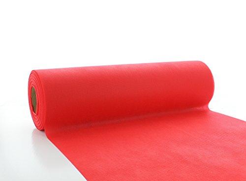 Vlies-Tischläufer Tischband für Weihnachten Herbst Rot 30cmx20m | abwaschbar | Tischdeckenrolle stoffähnlich | ideal für Feier | Geburtstag | Party