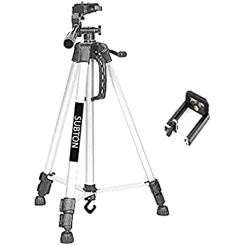SUBTON Tripod 55 Inches for TIKTOK YouTube Family Kids Online Tutorial Conference Picnic Live Video Recording and Photoshoot- with Free Mobile Holder