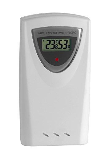 TFA Dostmann Thermo-Hygro-Sender, 30.3150, mit Display, kabellose Übertragung des Außenklimas