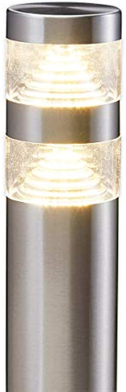 Lampenwelt LED Auenleuchte 'Lanea' (spritzwassergeschützt) (Modern) in Alu aus Edelstahl (1 flammig, A+, inkl. Leuchtmittel) - Wegeleuchte, Pollerleuchte, Wegelampe, Sockelleuchte