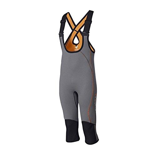 Crewsaver navegación y navegación - Fase 2, Pantalones Cortos para jóvenes para jóvenes para niños Gris Naranja - Correas de Hombro Ajustables