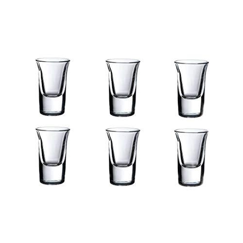 Juego de 6 vasos de licor de chupito de 35 ml de calidad