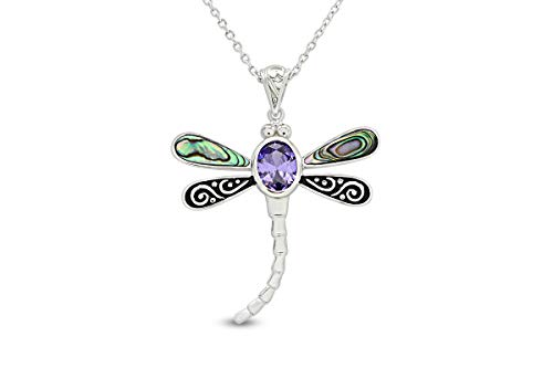 (20% OFF) 14K White Gold Over Sterling Silver Pendant Dragonfly Necklace $35.20 Deal