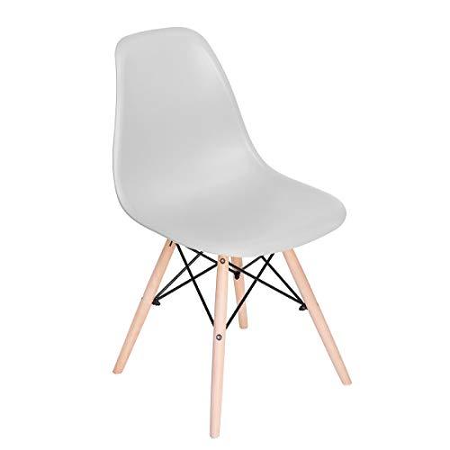 SPRINGOS Milano Skandinavischer Stuhl | Retro Design | 83x46x50 cm | für Wohnzimmer, Esszimmer, Küche, Büro | Grau