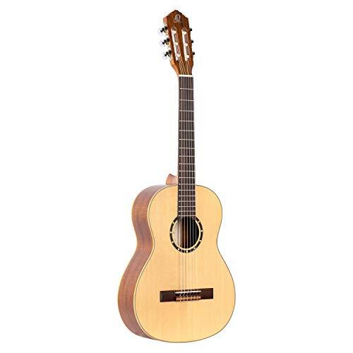 Ortega Guitars R121-3/4 Konzertgitarre in 3/4 Größe natur im seidenmatten Finish mit hochwertigem Gigbag