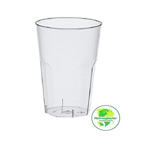 Gastro-Bedarf-Gutheil 30 bruchfeste Cocktail Becher Trinkbecher 0,3 l 300ml Mehrweg Mehrwegbecher aus hochwertigem PP Kunststoff