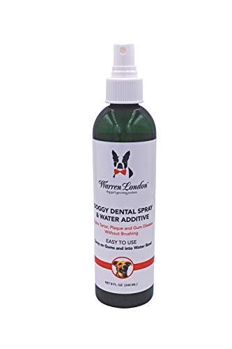 Warren London Doggy Dental Spray and Water Additive - Bad Breath Freshener That Fights Tartar & Plaque - 8oz
