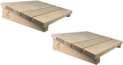 SudoreWell® Appui-tête de sauna exclusivement en bois de bouleau de haute qualité - 2 pièces