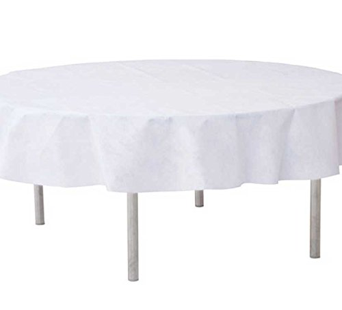 Chal - Nappe ronde D180cm intissé blanche