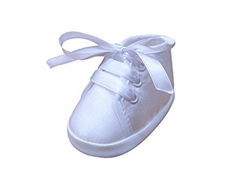 Seruna Festliche-r Baby-Schuh TP13/00 Gr. 18 Tauf-Schuhe weiß für Babies Junge-n und Mädchen zu Hochzeit-en