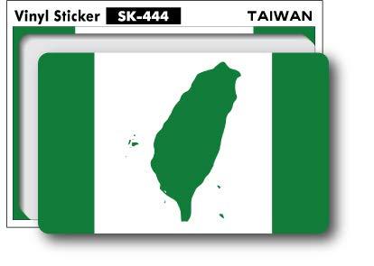 SK-444 100円ステッカー 台湾 独立旗 TAIWAN 国旗ステッカー スーツケース ステッカー