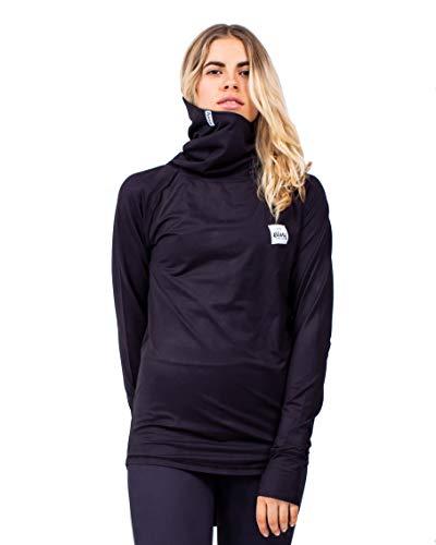 Eivy Icecold Gaiter Top Warme ski-Thermo ondergoed met lange mouwen en hoge fleece kraag functioneel ondergoed
