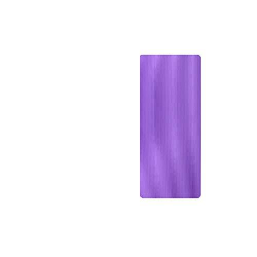 Tapis de yoga épais | 185 / 200CM Tapis de fitness agrandi Tapis de yoga Hommes Gym Tapis d'exercice Esterilla Yoga Tapete Pad Allonger antidérapant pour débutant avec sac-200x61x1cm Violet-
