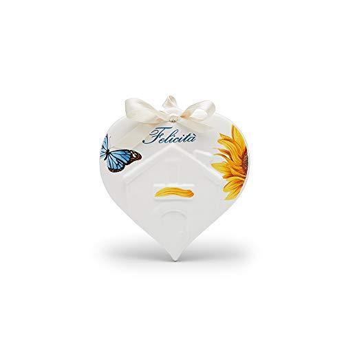 CERAMICHE VIVA ITALY SINCE 1998 Fliese aus Keramik Herz des Hauses, Wurzeldekor