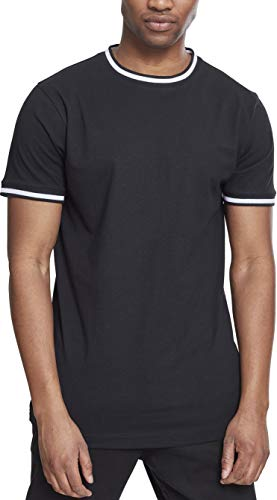 Urban Classics Herren College Tee T-Shirt, Schwarz (Black/White 00826), X-Large